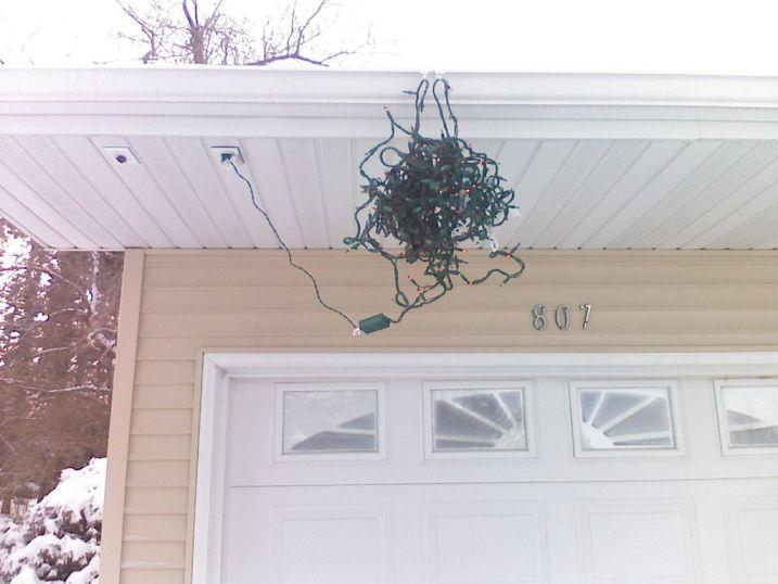 This stunning display of holiday cheer won 2nd place in the neighborhood decoration contest