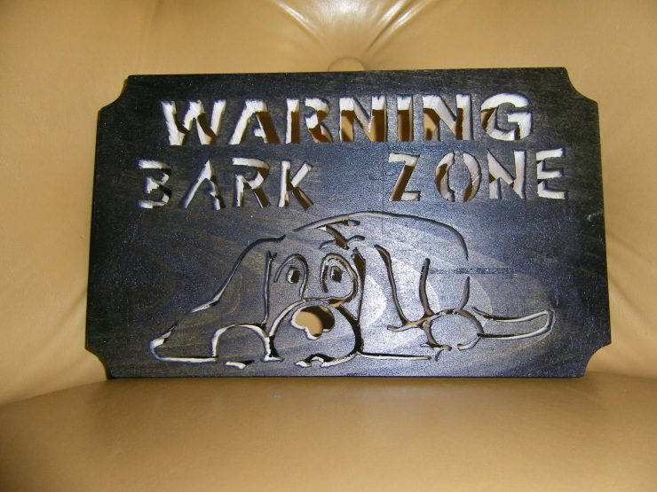 warning bark zone