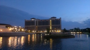 View of the Westin from across the lake.